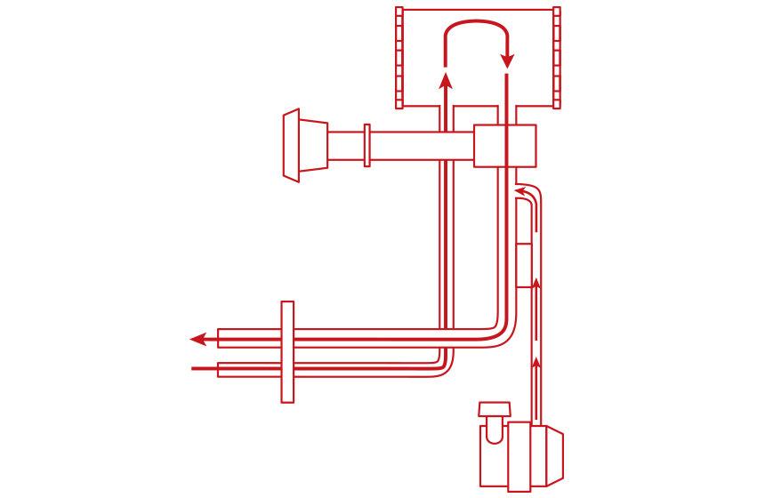 排ガス加熱方式 EXHAUST GUS